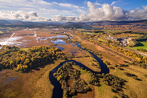 Insh marshes in the Cairngorms National Park, Scotland, UK, October 2017.  -  SCOTLAND: The Big Picture