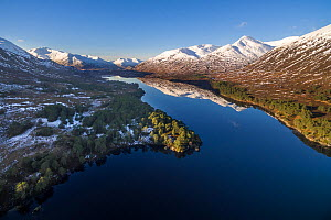 Aerial image of Loch Affric in Glen Affric, Scotland, UK, January 2018. - SCOTLAND: The Big Picture