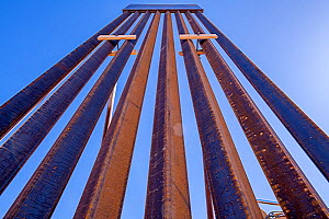 Mexican / United States border in Arizona, where the newer taller sections of the border wall pushed by President Trump are being erected in the environmentally sensitive Organ Pipe National Monument....  -  Jack Dykinga