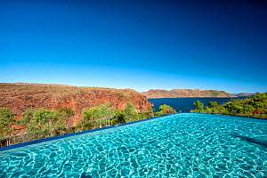 Infinity pool overlooking Lake Argyle. The Kimberley, Western Australia. 2017. - Steven David Miller