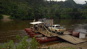 Timelapse of a cable ferry crossing the Nangaritza River, Zamora Chinchipe Province, Ecuador, 2018. - Morley Read