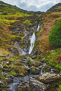 Rhaeadr-bach waterfall, Aber Valley, Snowdonia National Park, Wales, UK. May 2019. - Alan  Williams