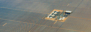 Aerial view of Solana parabolic trough solar generating plant, Gila Bend, Arizona, USA. September 2019. Aerial support by LightHawk. - Jack Dykinga