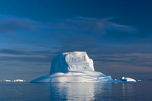 Iceberg in late afternoon light, Northwest Fjord, Scoresby Sund, Greenland, August. - John Shaw