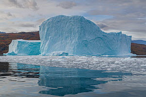 Iceberg in Hare Fjord, Scoresby Sund, Greenland, August. - John Shaw