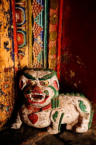 Snow lion statue in Hemis Buddhist Monastery, 3670 meters of altitude, Ladakh, India. September 2011. - Enrique Lopez-Tapia