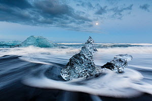 Ice sculptures on black beach. Jokulsarlon Glacier, Iceland 2016 - Espen Bergersen