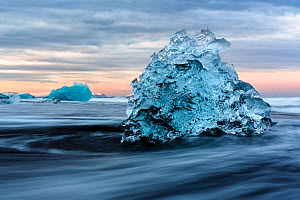 Ice 'sculptures' formed by melting glacial ice. The ice comes from the Jokulsarlon Glacier, Iceland, May 2016. - Espen Bergersen