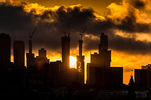 Sunset over Melbourne city. ?Melbourne, Victoria, Australia.? March 2017 - Doug Gimesy