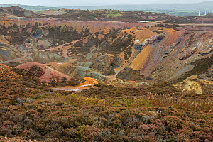 Parys mountain mine, Anglesey, Wales, confirmed as a site of prehistoric mining and Roman activity . It was probably the world's largest copper mine in the 1780s.  -  John Cancalosi