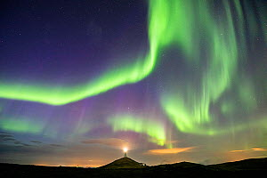 Aurora Borealis over Reykjanes Lighthouse, Reykjanes Peninsula, Iceland - Guy Edwardes