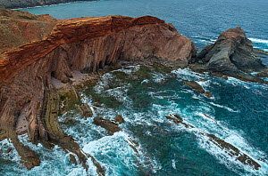 Angular unconformity on the coast. Marking two very distinct geologic periods, where the rocks formed under very different conditions, Ponta do Telheiro, Portugal. This shows a Variscan unconformity b...  -  Luis Quinta