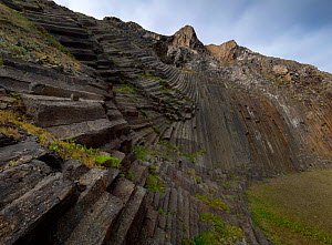 Pico de Ana Ferreira, Porto Santo Island, Madeira archipelago. November 2019. This light grey structure was caused by the contraction stresses generated during the cooling of magma inside a volcanic d...  -  Luis Quinta