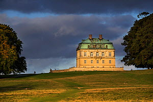 18th century royal hunting lodge in Baroque style at Jaegersborg Dyrehaven forest park north of Copenhagen, Denmark. September 2018 - Philippe Clement