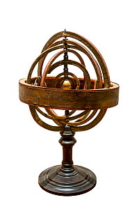 17th century Copernican, armillary sphere / spherical astrolabe, a spherical framework of rings, centred on the Sun  -  Philippe Clement
