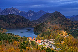 Hohenschwangau Castle, 19th-century palace and childhood residence of King Ludwig II of Bavaria at Hohenschwangau, Bavaria, Germany, October 2019  -  Philippe Clement