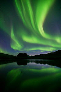 Northern lights in the Rapa Delta, Laponia World Heritage Site, Lapland, Sweden, September - Erlend Haarberg