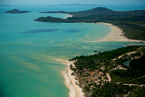 Aerial view of the Northern most point of Cape York Peninsula and the Continent of Australia. June 2012  -  Tim  Laman