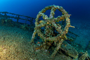 Rudder of Teti wreck, built in 1883 as a steamship and later turned into a merchant cargo ship. Sunk on a stormy night on May 23rd/1930, it lies at max 34m close to Komiza, Vis Island, Croatia, Adriat... - Franco  Banfi