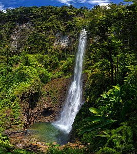 Middleham Waterfalls,Trois Pitons National Park, Dominica, West Indies. Stitched panorama. March 2019  -  Derek Galon