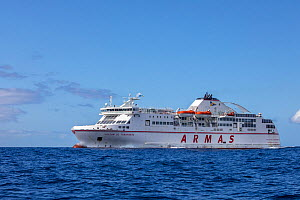 Ferry from Los Christianos, Tenerife to San Sebastián de La Gomera, Tenerife, Canary Islands, Atlantic Ocean.  -  Franco  Banfi