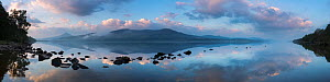 Schiehallion reflected in Loch Rannoch at dawn, Perthshire, Scotland (high version of file availble on request from NPL) May 2017.  -  David Noton