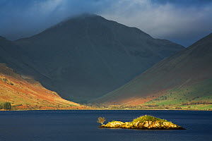 Wast Water with Great Gable and storm clouds, Lake District National Park, Cumbria, England, November 2007  -  Guy Edwardes