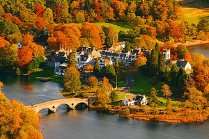 Village of Kenmore in autumn on the shore of Loch Tay, Perthshire, Scotland, October  -  Guy Edwardes