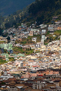 View across rooftops, Quito, Ecuador, August 2010.  -  Guy Edwardes