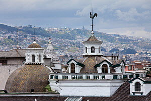 Domes of Church of Santo Domingo, Quito, Ecuador, August 2010  -  Guy Edwardes