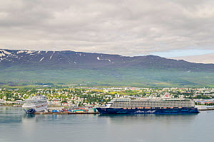 Cruise ships in Akureyri Harbour. North Iceland  -  Terry  Whittaker