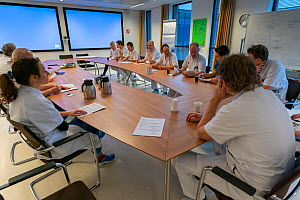 At noon there is a multidisciplinary meeting to evaluate all the patients of the ICU department Jeroen Bosch Ziekenhuis, Den Bosch, 's Hertogenbosch, The Netherlands March 2020. EDITORIAL USE ONLY...  -  David Pattyn