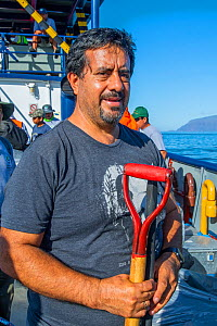 Washington (Wacho) Tapia, director of the Giant Tortoise Restoration Initiative and leader of the Wolf expedition Wolf Volcano, Isabela Island, Galapagos  -  Tui De Roy