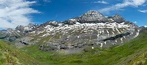 View at the head of the Col de Tentes. Pyrenees National Park, France, June.  -  Robert  Thompson
