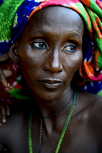 Portrait of Kanou moudji woman, nomadic herders of southern Chad. September 2019.  -  Enrique Lopez-Tapia
