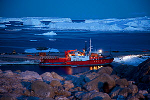 French icebreaker L'Astrolabe at Dumont D'Urville Station, Antarctica.  -  Fred Olivier