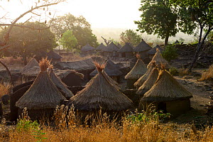 Taneka village with thatched clay houses. Benin, 2020.  -  Enrique Lopez-Tapia