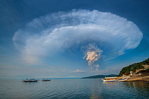 Eruption of Taal Volcano viewed from Anilao in Batangas, The Philippines, 12 January 2020. The main crater that threw ashes across Central Luzon and Manila regions.  -  Magnus Lundgren