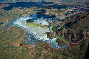Aerial view of the tailings dam, Argyle diamond mine , Kimberley, Western Australia.  -  Fred Olivier