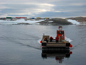 Jet barge used to transport the cargo to Casey station form the resupply ship, Antarctica. December 2010  -  Fred Olivier