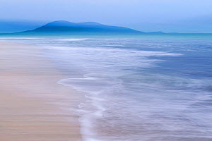 RF - Luskentyre beach with incoming tide, mountains in distance. Isle of Lewis and Harris, Outer Hebrides, Scotland, UK. October 2018. (This image may be licensed either as rights managed or royalty f...  -  Ross Hoddinott