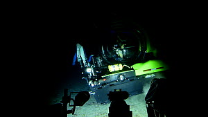 Research submersible leaving the seabed, Central equatorial Atlantic Ocean, Saint Peter and Saint Paul Archipelago, Brazil.  -  Solvin Zankl