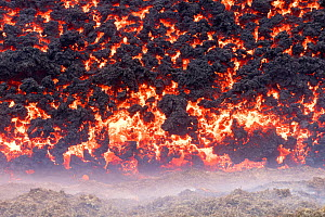 Edge of the lava field at the Fagradalsfjall volcano. Lava is flowing out of Fagradalsfjall at about 1,500 gallons per second, according to the RUV, Icelandic National Broadcasting Service. 2 April 20...  -  Theo  Bosboom