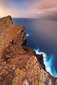 Rim of the volcanic crater, Zapato Islet, Guadalupe Island Biosphere Reserve, off the coast of Baja California, Mexico, September  -  Claudio Contreras
