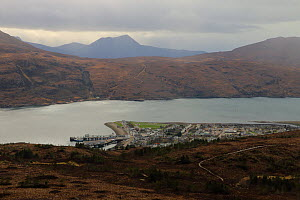 View looking down on  Ullapool harbour, West Coast, Scotland. April 2020.  -  Philip  Stephen