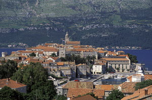 Korcula, a town and port on the north-eastern coast of the island of Korcula, is situated on a small peninsula which is connected to the island by a narrow isthmus. Croatia 1994. - Gary John Norman