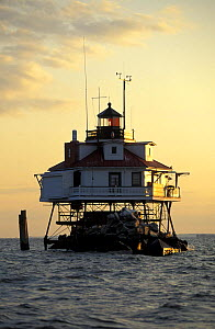 Thomas Point Lighthouse, off Annapolis, Maryland, USA.^^^Built in 1875, it is the only screwpile light on the bay in its original location.  -  Onne van der Wal