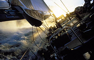 Maxi yacht ^Drum^ owned by Simon le Bon in the Whitbread Round the World Race, 1985.  -  Rick Tomlinson