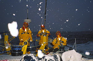 """Intrum Justicia"" in the Southern Ocean during the Whitbread Round the World Race, 1997. - Rick Tomlinson"