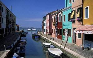 Burano, an archipelago of islands in the Venetian lagoon, Venice province, Italy.  -  Roberto Rinaldi
